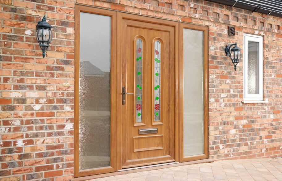 Front doors Southbourne Dorset